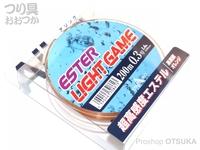 山豊テグス エステルライトゲーム - 200m巻 #蛍光オレンジ 0.3号 1.4lb