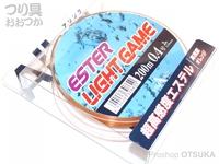 山豊テグス エステルライトゲーム - 200m巻 #蛍光オレンジ 0.4号 2lb
