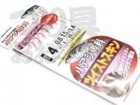 ハヤブサ 小アジ専科 ピンクレインボー - HS300 #オキアミ 鈎4号 ハリス0.8号 幹糸1.5号