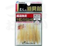ハヤブサ 厳選魚皮 サバ皮ロングシラスカット - P265 茶 50mm