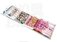 ハヤブサ イシモチ・アイナメ投げ胴突仕掛け - Ksオリジナル -. #11-3-10 2ホン ピンクハリス