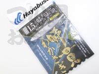 ハヤブサ 瞬貫わかさぎ -  細地袖型 5本鈎  細地袖1.5号ハリス0.2号幹糸0.3号