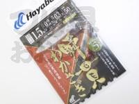 ハヤブサ 瞬貫わかさぎ -  秋田キツネ型 5本鈎  細地袖1.5号ハリス0.2号幹糸0.3号