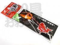 ハヤブサ 貫撃遊動テンヤ - SE105 #4 背黒オレンジ 10号