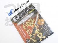 ハヤブサ 瞬貫わかさぎ -  秋田キツネ型 6本鈎  細地袖0.8号ハリス0.2号幹糸0.2号