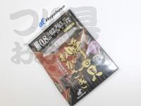 ハヤブサ 瞬貫わかさぎ -  秋田キツネ型 7本鈎  オモリ付 0.8号ハリス0.2号幹糸0.3
