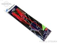 ハヤブサ フリースライド ロングストレート ラバー&フックセット - SE144 #1 桜 フックM マイスターフック
