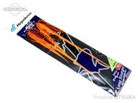 ハヤブサ フリースライド ロングストレート ラバー&フックセット - SE144 #2 赤海老 フックM マイスターフック