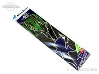 ハヤブサ フリースライド ロングストレート ラバー&フックセット - SE144 #13 イソメグリーン フックM マイスターフック