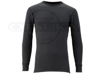 ハヤブサ 光電子 ジップアップシャツ 超厚 - Y1619 #ブラック サイズLL