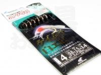 ハヤブサ 小アジ専科 - ケイムラ白エビ  鈎小アジ4号 ハリス0.8号 幹糸1.5号