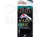 ハヤブサ 小アジ専科 - ケイムラ白エビ  鈎小アジ5号 ハリス0.8号 幹糸1.5号