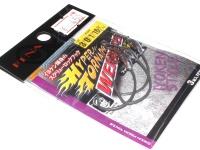 フィナ ハイパートルネードウェイテッド - FF208 #フッ素ブラック サイズ #3/0 ウェイト1.8g