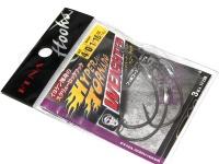 フィナ ハイパートルネードウェイテッド - FF208 #フッ素ブラック サイズ #4/0 ウェイト1.8g