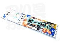 ハヤブサ イサキ 鯛 吹き流し - SN139 #MIXウィリー&逆ウィリー 4号ハリス4号幹糸4号 6.0m