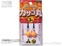 ハヤブサ カサゴ丸 - HE115 #アピールオレンジ 4号(約15g)