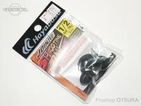 ハヤブサ バス ジョインテッドシューティングボールヘッド - FF404 #ブラック 1/2oz 14g