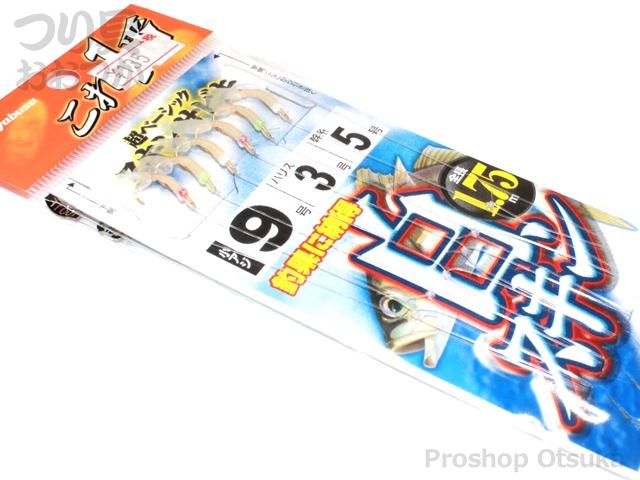ハヤブサ これ一番シリーズ 白スキンサビキ HS711 鈎9号 ハリス 3.0号 幹糸5.0号 #白スキン