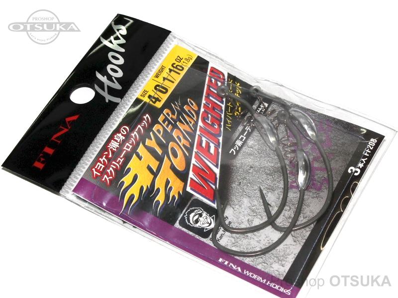 フィナ ハイパートルネードウェイテッド FF208 サイズ #4/0 ウェイト1.8g #フッ素ブラック