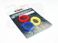 タカ産業 ラインバンド - M-15 #レッド/ブルー/イエロー S