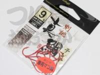 まるふじ 真鯛テンヤ専用マゴ鈎 - Z-049 #レッド 9号