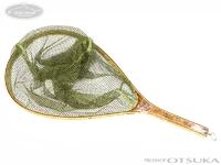 バレーヒル ランディングネット - ハンドメイドリリースネット #オリーブ L/72cm 内径47cm 横32.5cm