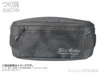 谷山商事 釣武者 - ライトボディバッグ # ブラック 外寸 W300×D60×H120mm