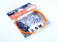 フジノ テンカラライン - ソフトテンカラ #オレンジ 3.6m ナイロン100% テーパーライン