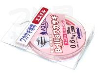 フジノ 手繰り専用糸 - ブリリアワカサギ # 蛍光ピンク 0.6号 50m