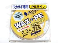 フジノ WAX+PE - W-27 #マットイエロー 0.3号 60m