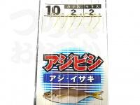 浜田商会 アジビシ仕掛 -  3本鈎 #金鈎 ムツ10号 ハリス2号 モトス2号