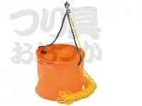 浜田商会 EVA反転バケツ丸 - AEC020  バケツ径18cm ロープ付き