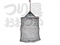 浜田商会 クレモナワイヤー巻スカリ - AKA001 # エンジ色(網色です) 45cm 3段