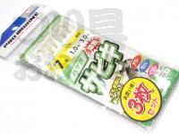 浜田商会 爆釣サビキ ASA015 #ハケ゛皮 7号