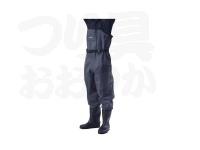 浜田商会 チェストハイウェーダー - FWA021 # グレー ウエストハイ型 サイズL(25.5~26.0cm)