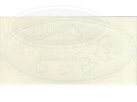 イトウクラフト ステッカー - イトウクラフト  #ホワイト 18.5cm 楕円形ロゴ 切り抜きタイプ Aタイプ