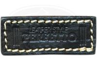 レザースタイルペルフェット レザーぺるバッチ -  #ブラック(ベージュステッチ) 50mmX20mm