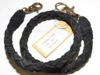 ワイズカスタム レザーチェーン - 50cm #ブラック 全長50cm
