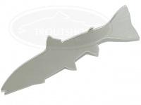 ザンマイルアーズ ステンバッジ - トラウト #大イワナ・アメマス 60mm ステンレス削り 磨き出し
