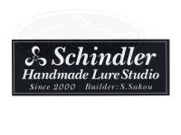 シンドラーハンドメイドルアースタジオ ステッカー -  横長白地抜き(ST1-1) 横14cm×縦5cm