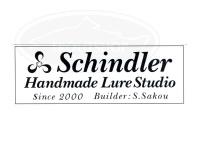 シンドラーハンドメイドルアースタジオ ステッカー -  横長黒地抜き(ST1-2) 横14cm×縦5cm