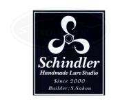 シンドラーハンドメイドルアースタジオ ステッカー -  縦長白地抜き(ST2-1) 横8.5cm×縦10cm