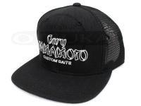 ゲーリーヤマモト フラットビルキャップ - GYフラットビルメッシュキャップ #ブラック フリーサイズ
