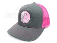 グリーンフィッシュタックル キャップ - オリジナル #グレー/ピンク フリーサイズ
