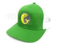 グリーンフィッシュタックル キャップ - オリジナル #グリーン/ホワイト フリーサイズ
