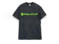フルクリップ Tシャツ - FCロゴT #ブラック/ネオングリーン Lサイズ