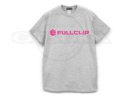 フルクリップ Tシャツ - FCロゴT #グレー/ネオンピンク Lサイズ