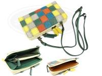 レザースタイルペルフェット 携帯小物 財布一体型 - ラウンドファスナー ウォレットショルダーバッグ #ランダムレザー 130X210mm