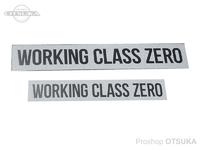 ワーキングクラスゼロ ステッカー - スタンダード #ホワイト 23.5cm