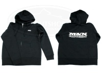 M&Nコーポレーション パーカー - スウェット・ジップアップ #ブラック サイズM 10oz